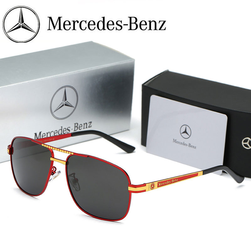 7aada9cbd NEW Mercedes Polarized Sunglasses Men Outdoor Driving Sun Glasses Women  UV400 Eyewear Benz HD Eyeglasses with ORIGINAL BOX Item NO: MB762