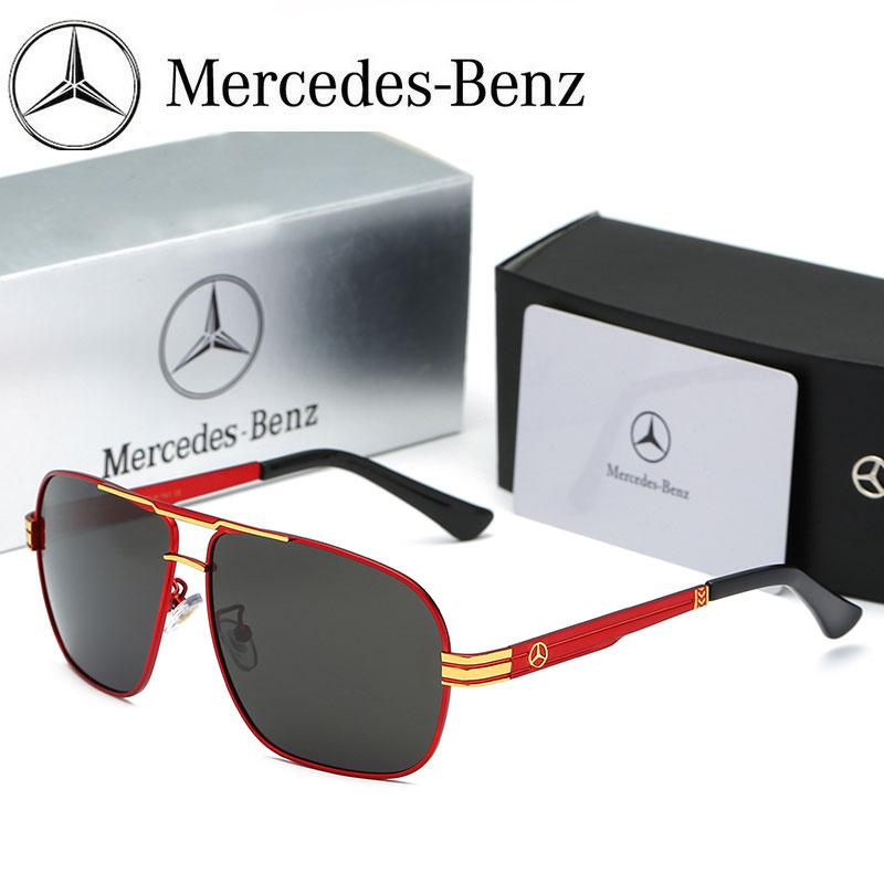 240dcaa8c NEW Mercedes Polarized Sunglasses Men UV400 Driving Eyewear HD Benz Sun  Glasses Women Outdoor Eyeglasses with ORIGINAL BOX Item NO: MB763