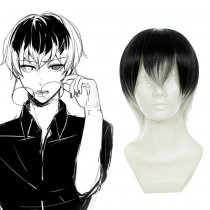 Rulercosplay Cosplay The Black And White Gradient Wig By Tokyo Ghoul Kaneki Ken Cosplay Anime Wigs W