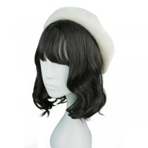 Rulercosplay Sweet Original Tina Medium Long Curly Black BoBo Lolita Wig