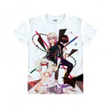 Tokyo Ghoul Fashion Animation White Smooth Decron T-shirt 023 More Patterns