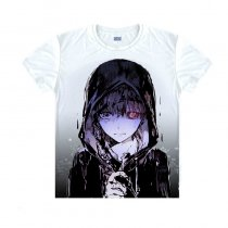Tokyo Ghoul Fashion Animation White Smooth Decron T-shirt 014 More Patterns