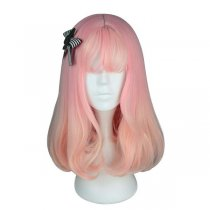 Rulercosplay Sweet Harajuku Original Air Bang Pink And Yellow BoBo Mixed Ombre Lolita Wigs