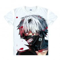 Tokyo Ghoul Fashion Animation White Smooth Decron T-shirt 052 More Patterns
