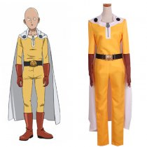 Rulercospaly ONE PUNCH MAN Saitama Yellow Uniform Cloth Cosplay Costume Wholesaler Resaler