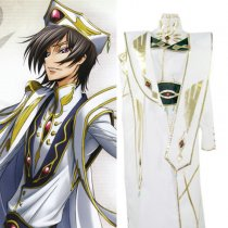Rulercosplay Code Geass Lelouch King Wear White Cosplay Costume Wholesaler Resaler