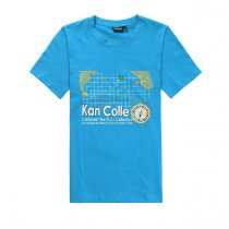 Kantai Collection Blue Cotton Short Sleeve T-shirt Cosplay Costume