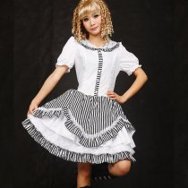 Knee-length Dress with Long Sleeve Polyester Lolita Dress