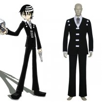 Rulercosplay Soul Eater Death The Kid Black Uniform Cloth Cosplay Costume Wholesaler Resaler