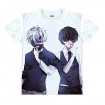 Tokyo Ghoul Fashion Animation White Smooth Decron T-shirt 028 More Patterns