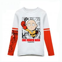 ONE PUNCH MAN Saitama Prints White Cotton T-shirt