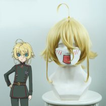 Rulercosplay Tan Ya Senki / Girl Wars Tanya Von Degurechaff Short Yellow Anime Cosplay Wigs
