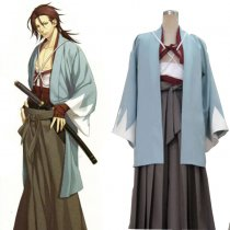 Rulercosplay Hakuouki Sanosuke Harada Blue Cosplay Costume Wholesaler Resaler