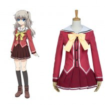 Rulercosplay Charlotte Nao Tomori Red Uniform Cloth Cosplay Costume Wholesaler Resaler