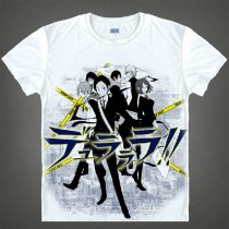 Durarara Animation Products T-shirts Shizuo Heiwajima Orihara Izaya Image White Short Sleeves Cotton