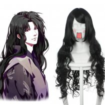 Rulercosplay Inuyasha Nraku Black Heat Resistant Fiber Long Straight Cosplay Wigs Wholesaler Resaler
