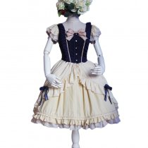 Lolita Fashion Cotton Keen-length Short Sleeve Sweet Lolita Dress