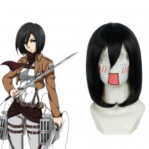 Rulercosplay Attack On Titan Mikasa Ackerman Black Short Heat Resistant Fiber Cosplay Anime Wigs Who