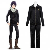 Rulercosplay Noragami Aragoto Anime Cosplay Customes Black Sportswear Wholesaler Resaler