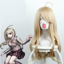 Rulercosplay New Danganronpa V3: Killing Harmony Akamatsu Kaede Yellow Small Roll Anime Cosplay Wigs