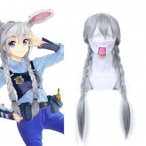Rulercosplay Zootopia Bunny Girl Judy Long Gray Cosplay Anime Wigs Wholesaler Resaler