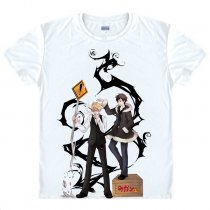 Durarara Animation Products Shizuo Heiwajima Orihara Izaya Image Cotton  T-shirts White Short Sleeve