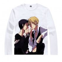 Animation Products T-shirts Durarara Shizuo Heiwajima Orihara Izaya Image White Long Sleeves Cotton
