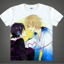 Durarara Animation Products Cotton T-shirts Shizuo Heiwajima Orihara Izaya Image White Short Sleeves