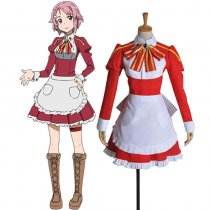 Rulercosplay Sword Art Online I Lisbeth (Rika Shinozak) Red Uniform Cloth Cosplay Costume Wholesaler