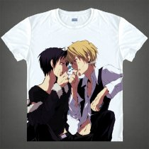Durarara Animation Products Shizuo Heiwajima Orihara Izaya Image White Cotton T-shirts Short Sleeves