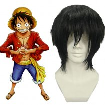 Rulercosplay One Piece Monkey D. Luffy Short Black Cosplay Anime Wigs Wholesaler Resaler
