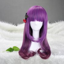 Rulercosplay Sweet Lolita Heat Resistant Fiber 60cm Long Purple Lolita Wigs Wholesaler Resaler