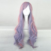 Rulercosplay Long Curly Purple With Pink Harajuku Lolita Wigs Wholesaler Resaler