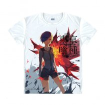 Tokyo Ghoul Fashion Animation White Smooth Decron T-shirt 036 More Patterns