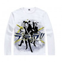 Durarara Animation Products Cotton T-shirts Shizuo Heiwajima Orihara Izaya Image White Long Sleeves