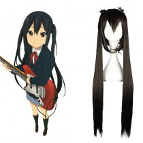 Rulercosplay Heat Resistant Fiber Inspired By K-On! Azusa Nakano Super Long Black Anime Wigs Wholesa