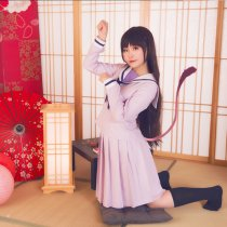 Rulercosplay lki Hiyori Of Noragami Aragoto Anime Cosplay Costume Pink Dress Wholesaler Resaler
