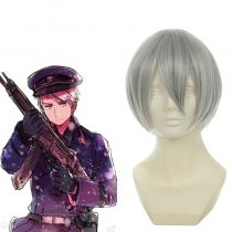 Rulercosplay Hetalia Prussia Mixed Short Sliver Gray Anime Cosplay Wigs Wholesaler Resaler