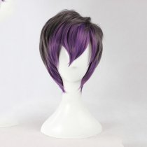 Rulercosplay Short Purple And Gray Harajuku Gothic Lolita Wigs Wholesaler Resaler