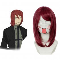Rulercosplay Soul Eater Spirit Heat Resistant Fiber Wine Red Cosplay Wigs Wholesaler Resaler
