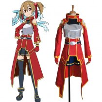Rulercosplay Sword Art Online I Silica (Keiko Ayano) Red Uniform Cloth Cosplay Costume Wholesaler Re