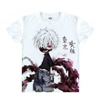 Tokyo Ghoul Fashion Animation White Smooth Decron T-shirt 044 More Patterns