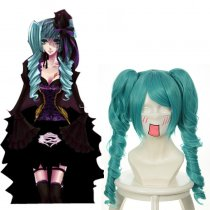 Rulercosplay Hatsune Miku Vocaloid Green Wave Wigs Heat Resistant Fiber 65 cm Anime Cosplay Wigs Who