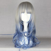 Rulercosplay Long Curly Gray With Dark Blue Harajuku Lolita Wigs Wholesaler Resaler