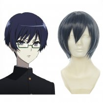 Rulercosplay Heat Resistant Fiber Inspired By Another Tomohiko Kazami Short Navy Anime Wigs Wholesal