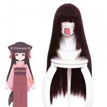 Rulercosplay Konohanatei Kitan Sakura purplish red Long Straight Anime Cosplay Wigs