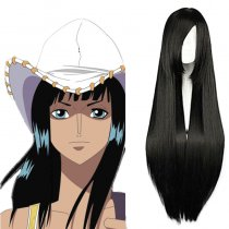 Rulercosplay One Piece Nico Robin Long Black Cosplay Anime Wigs Wholesaler Resaler