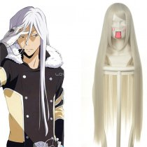 Rulercosplay Reborn! Superbia Squalo Long White Cosplay Anime Wigs Wholesaler Resaler