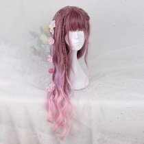 Rulercosplay Sweet Harajuku Original Violet Peach Lolita Wigs
