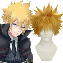 Rulercosplay Heat Resistant Fiber Inspired By Reborn! Giotto Vongola Short Brown Anime Wigs Wholesal
